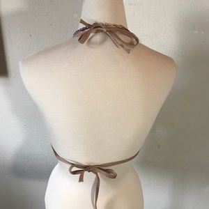 Victoria's Secret Swim - Victoria's Secret Teal Geometric Swim Bikini Top
